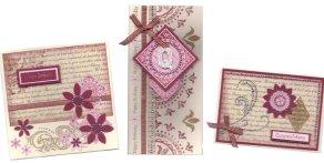 Ebony and ivory bling cards