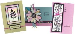 Painted aqua coloured cards